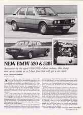 1973 BMW 520 & 520i  ~  ORIGINAL 2-PAGE ARTICLE / AD