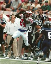 ALDRICK ROBINSON SMU MUSTANGS SIGNED 8X10 PHOTO COA