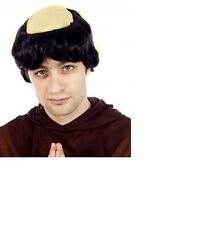 Monk Wig Mens Religious Friar Tuck Fancy Dress Costume Accessory with Bald Head
