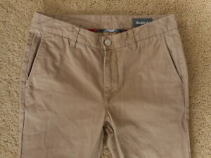 Mens Bonobos Khaki's Pants Slacks measured size 30x32 100% Cotton Comfort preown