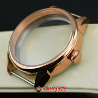 42mm Brushed Rose gold Watch Case Fit ETA 6497/6498,Seagull ST36 Movement p640