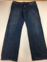 EDDIE BAUER MEN'S RELAXED FIT JEANS SIZE 38 X 34 LIGHT DISTRESS