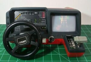 TOMY Turnin' Turbo Dashboard Car Racing Battery Operated Game 1983 Vintage As Is