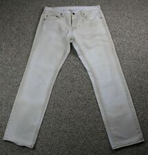Men's White True Religion Brand Jeans 30x32  Button Fly EUC Made in the USA