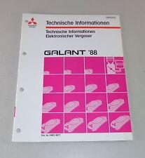 Werkstatthandbuch Technische Informationen Mitsubishi Galant E 30 ab 1988