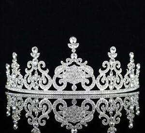 Elegant Clear Crystal Rhinestone Tiara Crown Bridal Pageant Prom Wedding T73