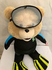 Ted  24-inch talking plush teddy bear Scuba Diver NEW Batteries NOT Included