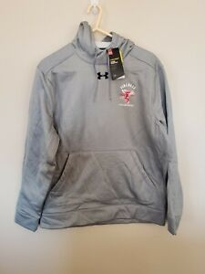 Men's Brand New Under Armour FIREBALL WHISKEY Pullover Hoodie Size (L) Grey