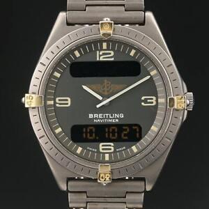BREITLING AEROSPACE NAVITIMER 80360 TITANIUM SWISS QUARTZ Watch Men's 40mm