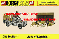 Corgi Toys Lions of Longleat Gift Set GS 8 Land Rover A3 size Poster Leaflet
