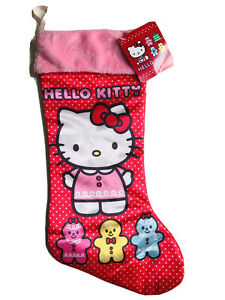 19 In Hello Kitty Red Christmas Stocking