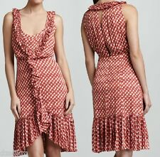 NWT $550 Tory Burch Janetta Circle Clip Dot Print Jacquard Dress Size 6