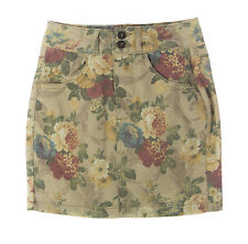 TOPSHOP Women's Cream/Multi Floral Front Zip Mini Skirt 27N07Y US Size 2 NEW