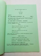 """THE SIMPSONS / Don Payne TV Script, feud with Santa """"Simpsons Christmas Stories"""""""