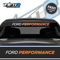 Ford Performance Fiesta Sunstrip ST Zetec S RS Sun Strip Decal FREE P&P Orange 4