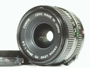 [Mint] Canon New FD NFD 28mm f/2.8 nfd Wide Angle MF Lens from JAPAN