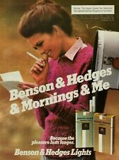 1981 Benson & Hedges Cigarettes Lady Smoking Reading Mail Mailbox Print Ad