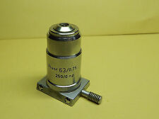 Reichert Fluor 63X - 63/0.75 - 250/0 NP Microscope Objective Lens Zetopan+