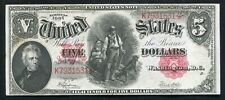 """FR. 91 1907 $5 """"WOODCHOPPER"""" LEGAL TENDER UNITED STATES NOTE EXTREMELY FINE"""