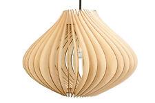 Pendelleuchte Holz Ventus Holzlampe Natur E27 Deckenleuchte Deckenlampe LED