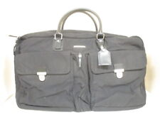 Auth HUNTING WORLD Black Nylon &  Leather Boston Bag w/Dust Bag,Guarantee