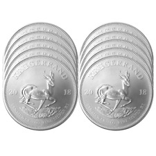 Lot of 10 - 2018 South Africa Silver Krugerrand 1 oz Brilliant Uncirculated