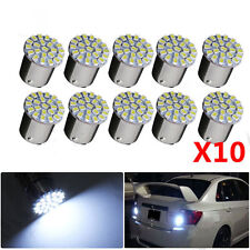 10 LED Lights BA15S Blanco 1156 22 SMD Bombilla Giro Backup Lámpara P21W 382