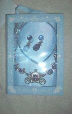 Disney Store Cinderella Costume Jewelry Pumpkin Coach Necklace Earrings Headband