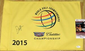 DUSTIN JOHNSON Signed 2015 Cadillac Doral WGC Course Flag - JSA COA - US OPEN