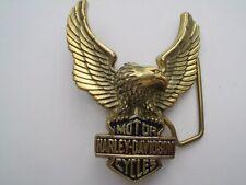 HARLEY DAVIDSON BELT BUCKLE  EAGLE H-502 1983 GOLD TONE NOS BIKER MOTORCYCLE