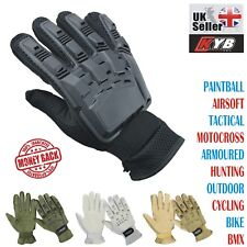 Paintball Gloves Full Finger Armour Protective Motocross Airsoft Tactical GLOVES