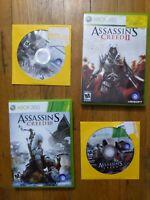 Assassins Creed I-III + Brotherhood - Xbox 360 Lot of 4 Bundle - Free Shipping