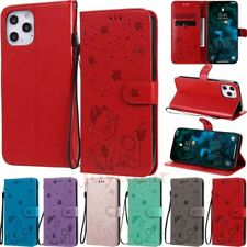 For iPhone 11 12 Pro Max XS XR SE 6s 7 8 Embossed Wallet Flip Leather Case Cover