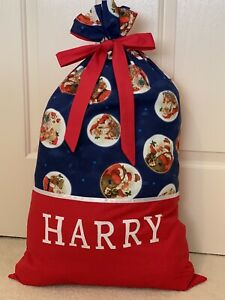 PERSONALISED NAME CHRISTMAS / SANTA SACK / PRESENT SACK -  Santa -