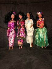 Lot Of Dolls Of the World Collection Multicultural Barbies
