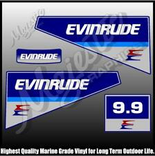 EVINRUDE - 9.9 hp - DECAL SET - OUTBOARD DECALS