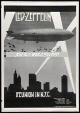 Original 1988 Led Zeppelin New York Reunion British Subway Advertising Poster