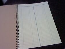 1 x A4 50 page LEDGER-DOUBLE ENTRY LEDGER ACCOUNTS BOOKKEEPING BOOK-see picture
