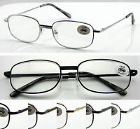 L44(3Pairs Classic Style Design Reading Glasses Spring Hinges Only £5.99)+50+100