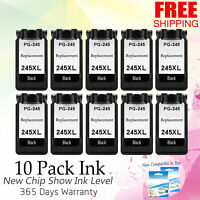 10 PK PG245XL Black Ink for Canon PIXMA iP2820 MG2420 MG2520 MX490 MG2450 MX495
