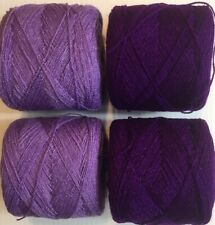 Lace yarn Crystal Colors 196 & 138, Acrylic/Rayon. 900 yards 1 lot of 4