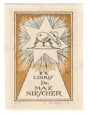GUSTAV SCHAFFER: Exlibris für Dr. Max Niescher, Chemiker, 1922