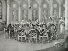 """MARTIN LUTHER - """"Glas mit Gift zerspringt"""" - Lithographie um 1830"""