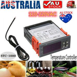 220-240V Digital Temperature Controller Temp Sensor Thermostat Genuine STC-1000