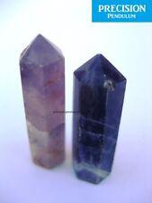 2 x Amethyst Healing Magic Grid Pencil Point Gemstone Crystal Generator Obelisk