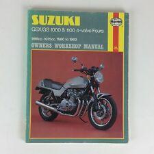 Haynes Suzuki GSX/GS1000 1100 4-valve Fours Owners Workshop Manual Pete Shoemark