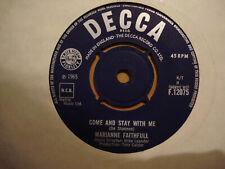 MARIANNE FAITHFULL,  COME AND STAY WITH ME,  DECCA RECORDS 1965  EX/EX+