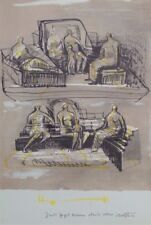 HENRY MOORE ORIGINAL BOOKPLATE LITHOGRAPH - 1970S - XXe SIECLE - LTD. ED. 3000