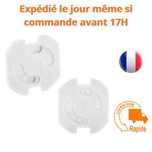 6 x Protections Cache Prise Electrique adhésif Pour Bébé Enfant Sécurité Blanc