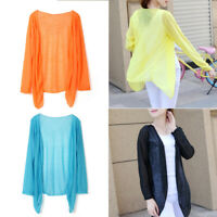 Women Fashion Light Weight Summer Beach Sunscreen Casual Long Sleeve Shawl Coat